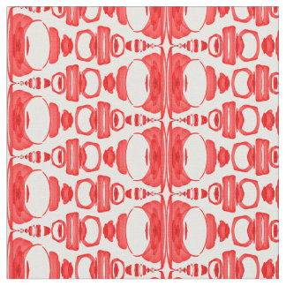 Abstract Pattern Dividers 02 Red over White Fabric