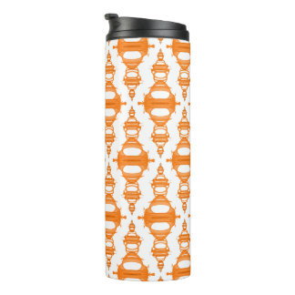 Abstract Pattern Dividers 03 Orange Custom White