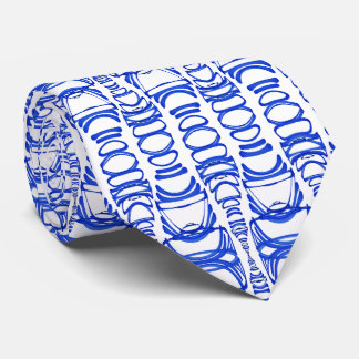 Abstract Pattern Dividers 07 Blue Custom White Tie