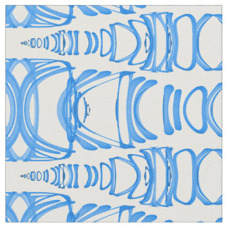 Abstract Pattern Dividers 07 Blue over White Fabric