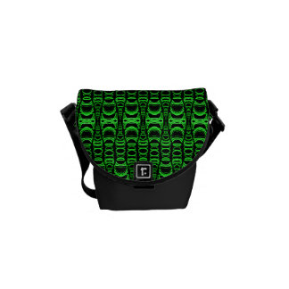 Abstract Pattern Dividers 07 Green Black Commuter Bag