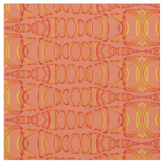 Abstract Pattern Dividers 07 Orange Salmon Pink Fabric