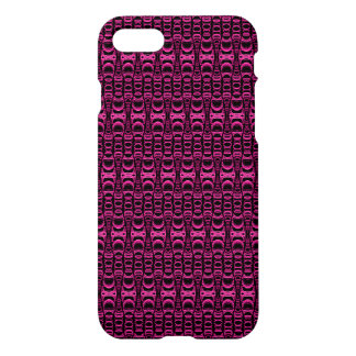 Abstract Pattern Dividers 07 Pink Black iPhone 7 Case