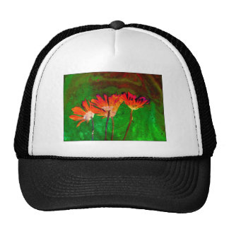 Abstract pattern Floral Trucker Hats