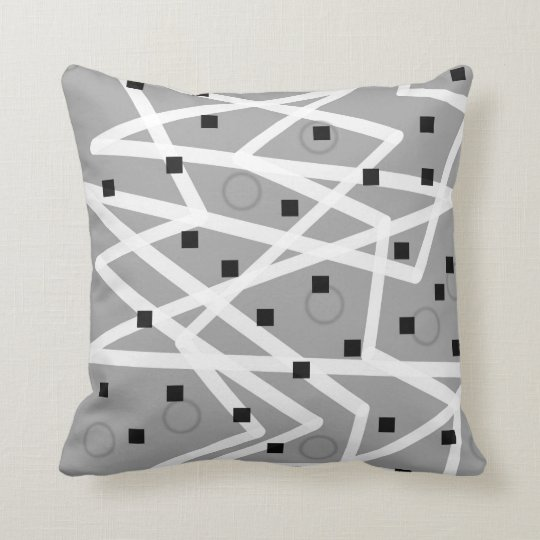 abstract pattern geometric modern design pillow