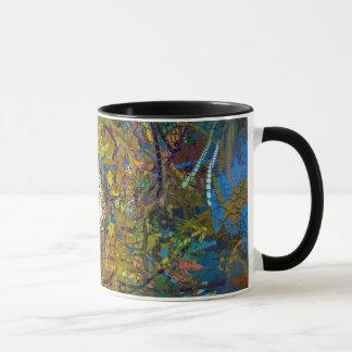 Abstract Pattern Glass Effect Mug