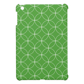 Abstract pattern - green and white. case for the iPad mini