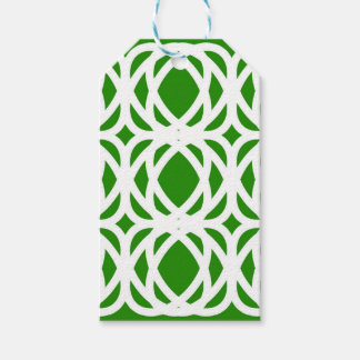 Abstract pattern - green and white. gift tags