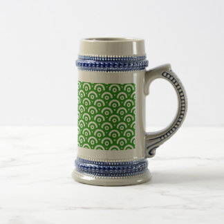 Abstract pattern - green. beer stein