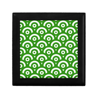 Abstract pattern - green. gift box