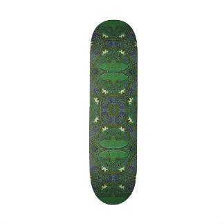 Abstract Pattern green purple Skateboard Decks