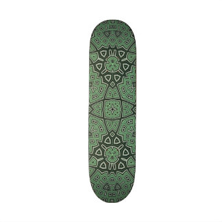 Abstract Pattern Green Skate Board Deck