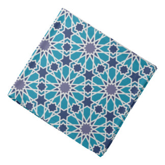 Abstract Pattern In Blue And Grey Kerchiefs
