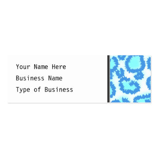 Abstract Pattern in Blue and Turquoise. Business Card