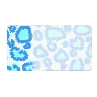 Abstract Pattern in Blue and Turquoise. Shipping Labels