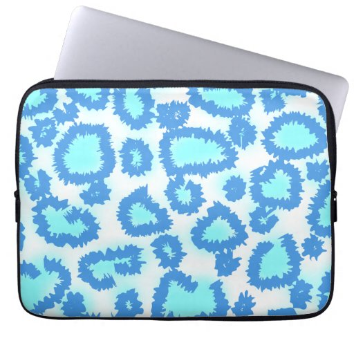 Abstract Pattern in Blue and Turquoise. Laptop Sleeve