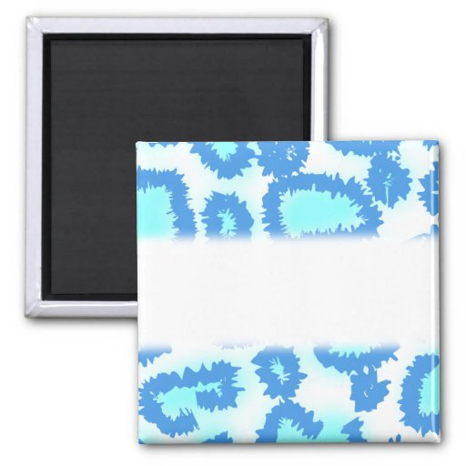 Abstract Pattern in Blue and Turquoise. Magnets