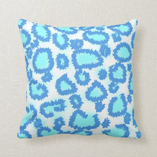 Abstract Pattern in Blue and Turquoise. Throw Pillows