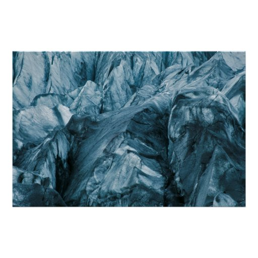 Abstract Pattern in Glacier | Iceland Poster