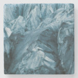 Abstract Pattern in Glacier | Iceland Stone Coaster