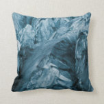 Abstract Pattern in Glacier | Iceland Throw Pillow