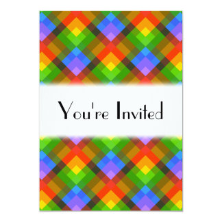 Abstract Pattern. 5x7 Paper Invitation Card