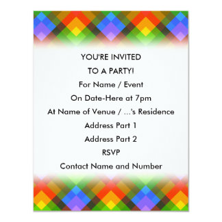 Abstract Pattern. 4.25x5.5 Paper Invitation Card
