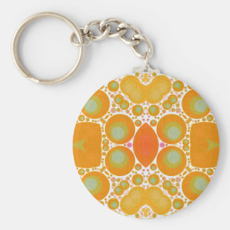 Abstract Pattern Basic Round Button Keychain
