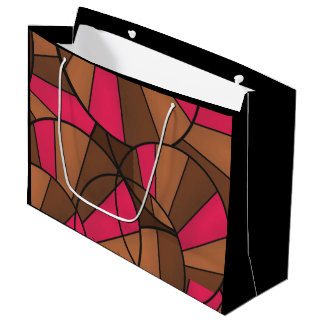 Abstract pattern large gift bag