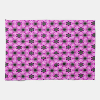 Abstract Pattern Lilac And Dark Gray Background Kitchen Towel