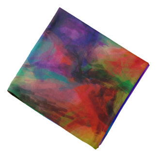 Abstract Pattern Multi Color Background Bandana