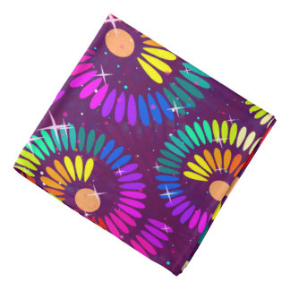 Abstract Pattern Multi Color Sparke Whirls Bandana