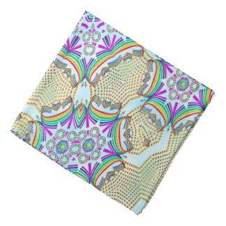 Abstract Pattern Multi Colour Tile Bandana