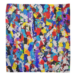 Abstract Pattern Multicolor Colorful Paint Dab Bandana