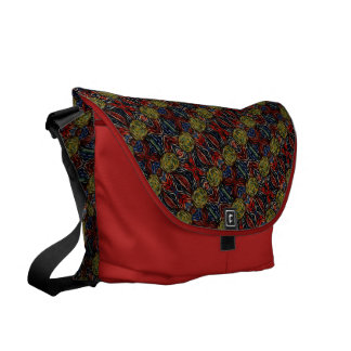 Abstract Pattern On Red Courier Bags