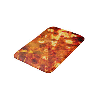Abstract Pattern Orange Light Effect Bath Mat