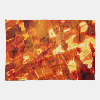 Abstract Pattern Orange Light Effect Kitchen Towel