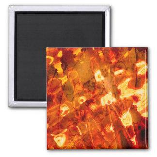 Abstract Pattern Orange Light Effect Magnet