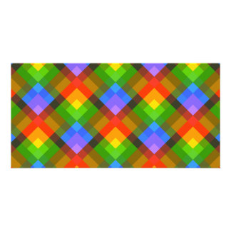 Abstract Pattern Custom Photo Card