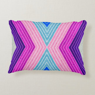 ABSTRACT PATTERN PILLOW, Purple Blue Retro Accent Pillow