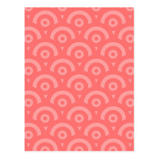 Abstract pattern - pink. postcard
