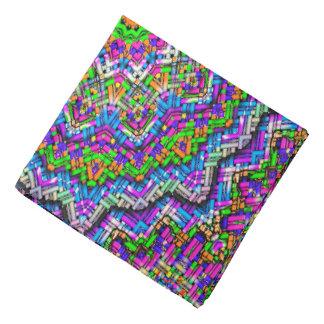 Abstract Pattern Purple And Green Radiating Star Bandana
