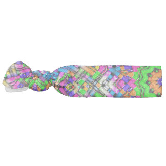 Abstract Pattern Purple And Green Radiating Star Hair Tie