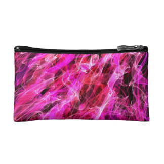 Abstract Pattern Purple And White Haze Cosmetic Bags