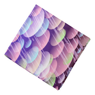 Abstract Pattern Purple Rain Clouds Bandana