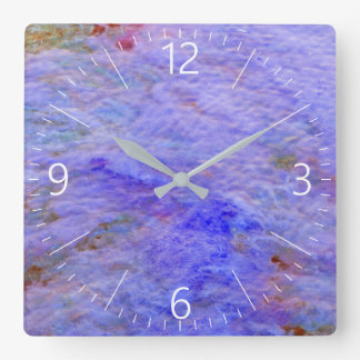 Abstract pattern square wall clock