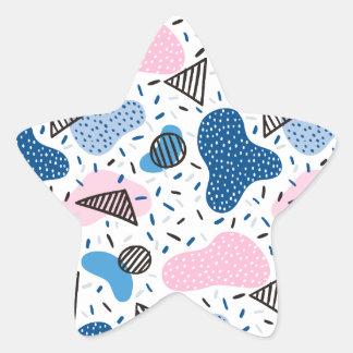 Abstract Pattern Star Sticker