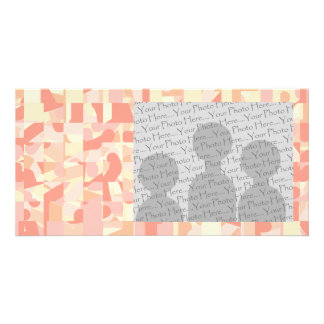 Abstract Pattern Terracotta, Pink & Cream Colors. Custom Photo Card