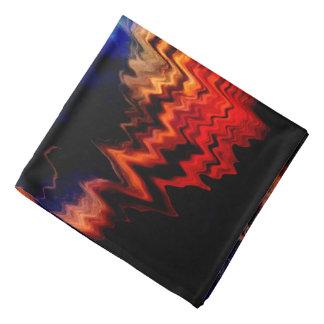 Abstract Pattern Wavy Colors Bandana