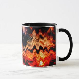Abstract Pattern Wavy Colors Mug